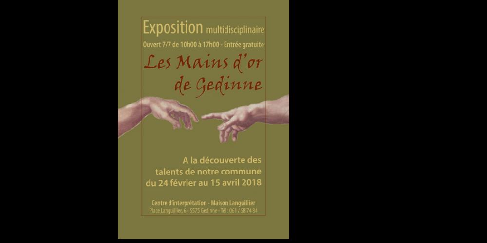 """Actuellement au Centre d'Interprétation: Expo """"Les Mains d'Or de Gedinne"""""""
