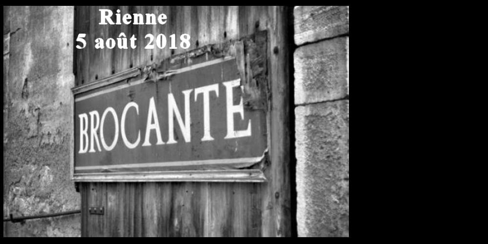 5 août: Brocante à Rienne