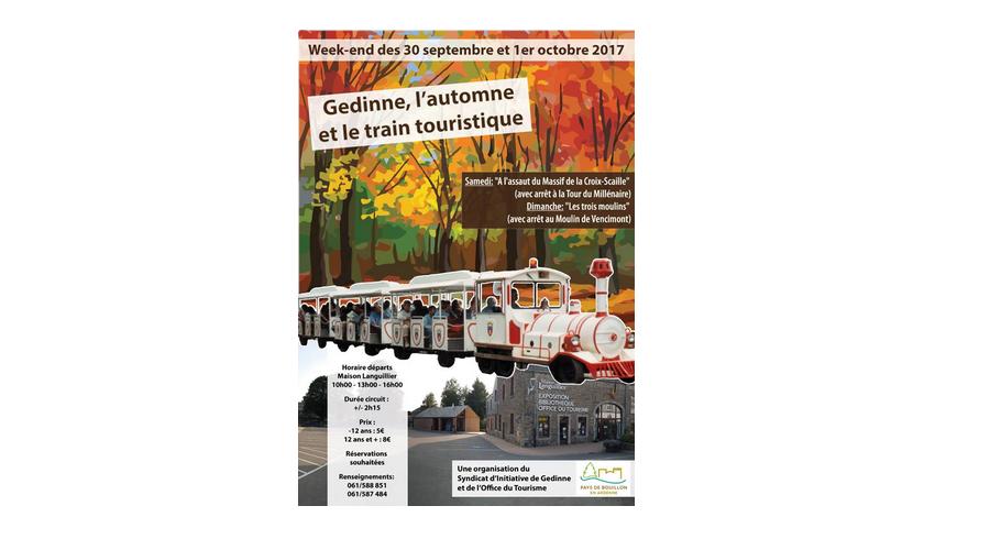 En petit train touristique à Gedinne et Vencimont les 30 septembre et 1er octobre