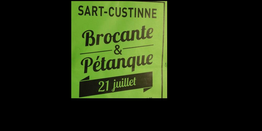 21 juillet : Brocante à Sart-Custinne