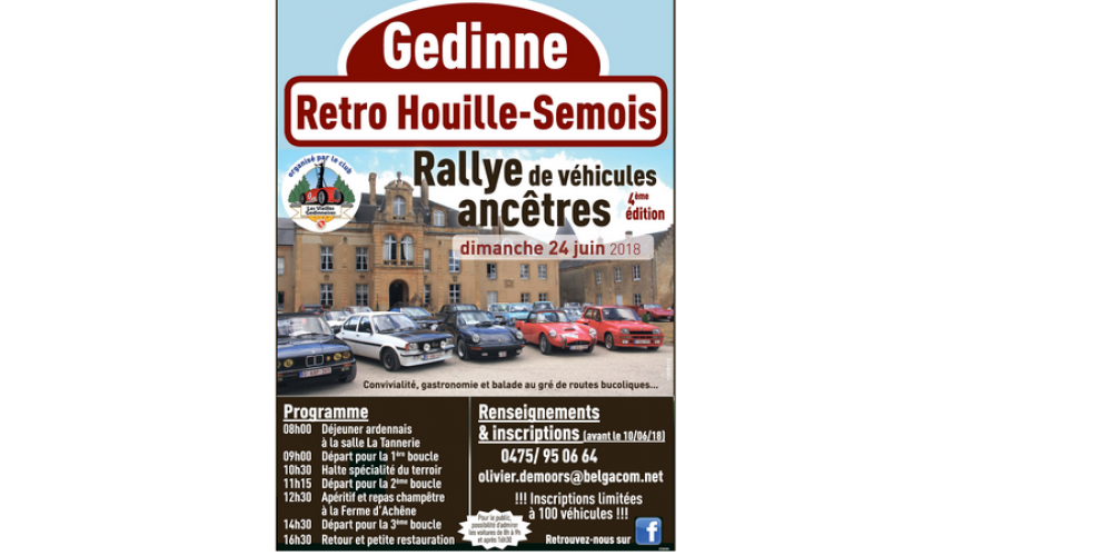 24 juin: Rallye véhicules ancêtres