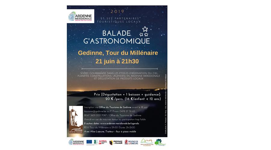 21 juin à 21h30 - Balade g'astronomique à la Tour du Millénaire