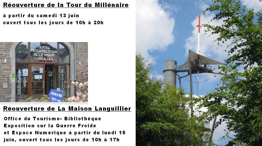 Réouvertures de la Tour du Millénaire et de l'Office du Tourisme