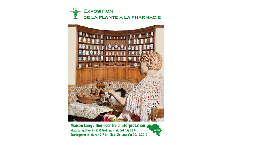 "Expo ""De la Plante à la Pharmacie"" actuellement au Centre d'Interprétation"