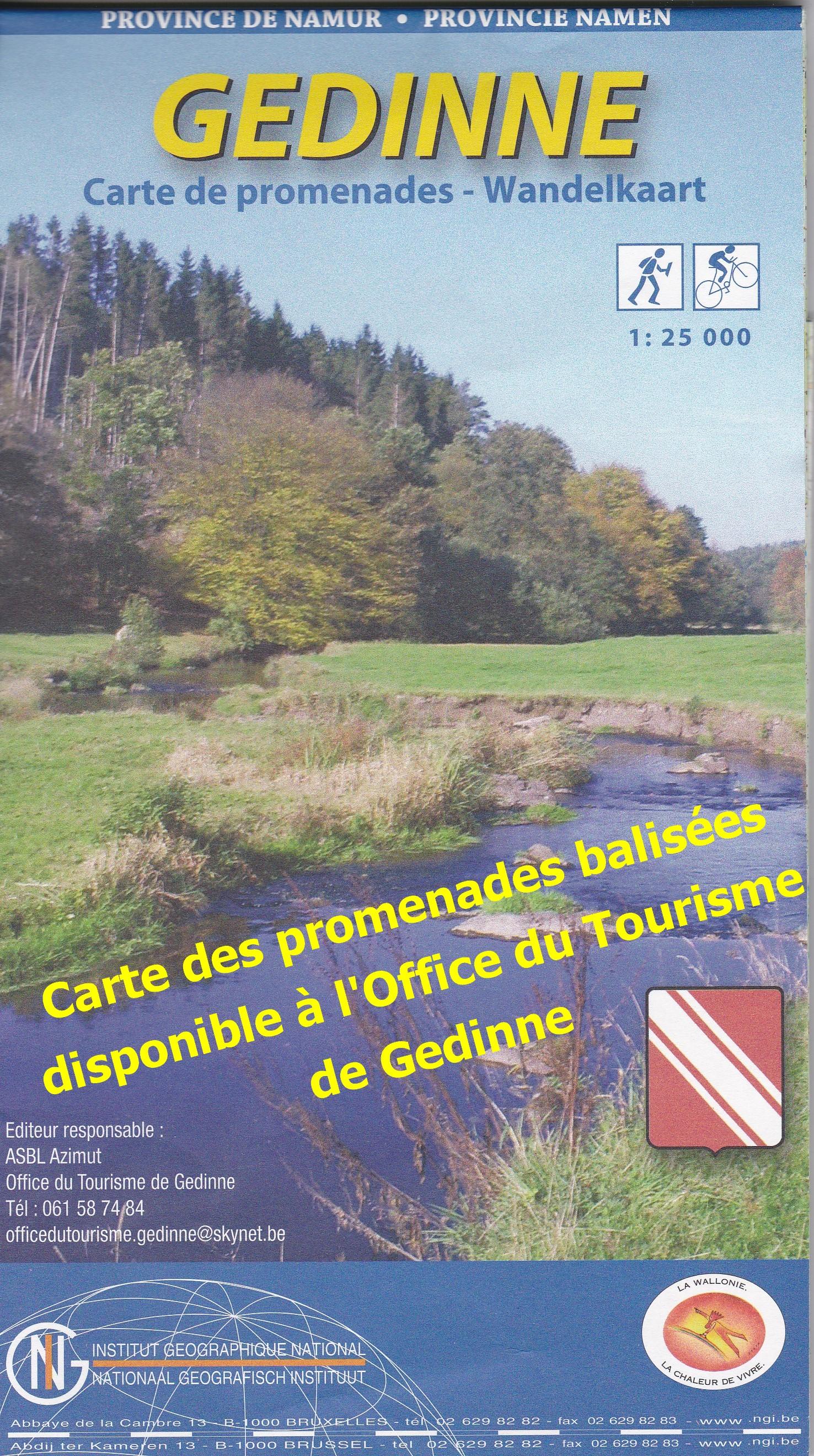 Carte des pomenades balis es office tourisme gedinne - Office du tourisme les contamines montjoie 74 ...